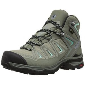 Salomon X Ultra 3 Mid GTX W, Chaussures de Randonnée Hautes Femme, Gris (Shadow/Castor Gray/Beach Glass 000), 38 EU