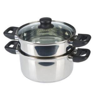 Axentia 220690 - Plat pour cuisson des pommes de terre à la vapeur en inox (20 cm)