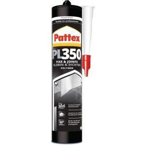Pattex Colle de fixation transparente à base de polymère hybride PL350 de