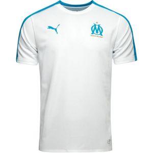 Puma Olympique de Marseille Maillot Pré-Match Stadium Without Sponsor Logo Homme, White/Bleu Azur, FR : 2XL (Taille Fabricant : XXL)