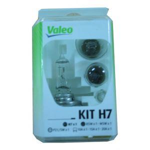 Valeo Coffret secours 7 ampoules H7 et H1 12 Volts 032308 -