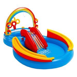 piscine-gonflable-toboggan