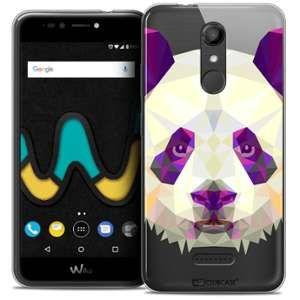 CaseInk Coque Gel Wiko U Pulse LITE (5.2 ) Extra Fine Polygon Animals - Panda