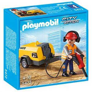 Playmobil 5472 - Ouvrier Avec Marteau-piqueur