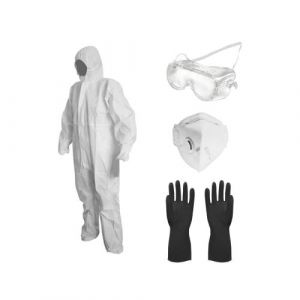 Kit de protection pulverisation VITO jardin et bricolage combi taille L + gants + lunettes+ masque VITO AGRO