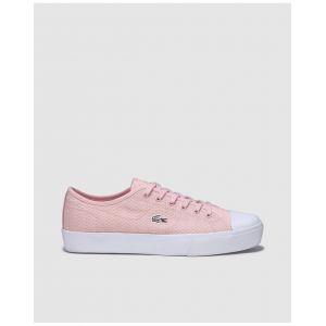 Lacoste Chaussures en toile avec logo sur le côté Rose - Taille 38
