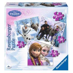 Ravensburger Puzzle évolutif : Anna, Elsa et leurs amis (25 à 49 pièces)