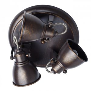 "Plafonnier 3 Têtes Métal ""Bell"" 19cm Noir Prix"