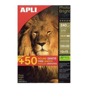 Agipa 150 feuilles de papier photo 240g (10 x 15 cm)