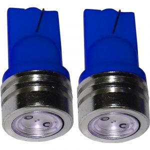 Aerzetix : 2x ampoule T10 W5W 12V à LED bleu veilleuses éclairage intérieur seuils de porte plafonnier pieds lecteur de carte coffre compartiment moteur plaque d'immatriculation