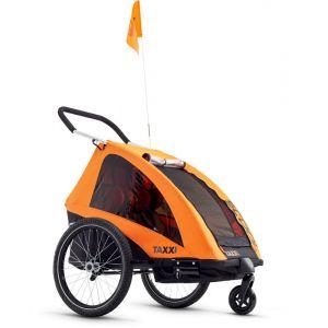 S'cool TaXXi Pro - Remorque vélo Enfant - orange Remorques pour enfant