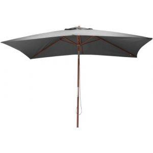 Proloisirs Parasol rectangulaire bois gris