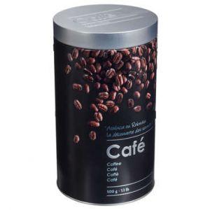 """Boîte à Café """"""""Relief II"""""""" 19cm Noir"""""""