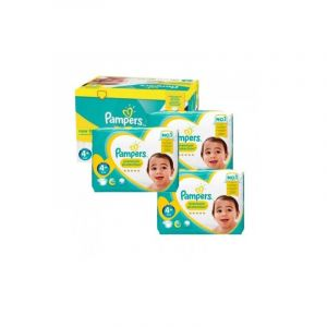 Pampers Couches - Taille 4+ new baby premium protection - 150 couches bébé
