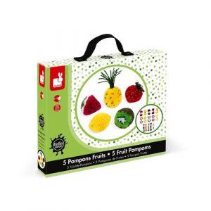 Janod Kit créatif Pompons Fruits