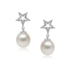 Blue Pearls Bps P301 Q - Boucles d'oreilles étoiles en argent et perle de culture