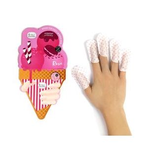 Le mini macaron Rose Masque pour doigts