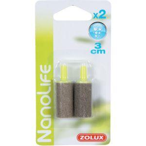 Zolux Set de 2 Diffuseurs d'Air Cylindrique pour Aquarium 3 cm x 15 mm