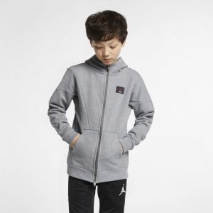 Nike Sweatà capuche entièrement zippé Jordan Flight Lite pour Garçon plus âgé Gris Couleur Gris Taille M