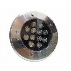 Silamp Spot LED Extérieur Encastrable IP65 220V Sol 12W 60° - Blanc Froid 6000K - 8000K -