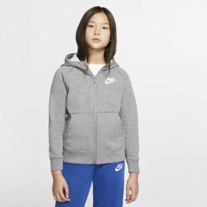 Nike Sweat à capuche à zip intégral Sportswear Fille - Gris - Taille XS - Female