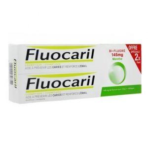 Fluocaril Dentifrice Menthe Bi-Fluoré (Lot de 2 x 75 ml)
