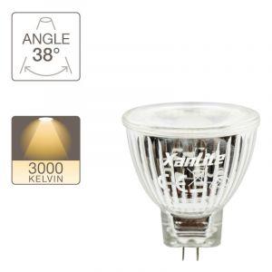 Xanlite Ampoule LED spot, culot G4, 4W cons. (20W eq.), lumière blanche chaude