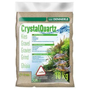 Dennerle Gravier pour Aquariophilie de Quartz Cristallin Blanc Nature 10 kg