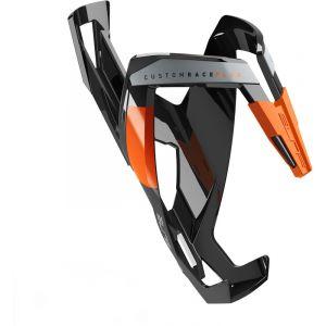 Elite Cycling Custom Race Plus Bouteille Cage, Custom Race Plus, Schwarz/Orange, glänzend