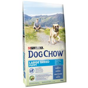 Dog chow Puppy Large Breed Dinde et Riz - Sac 14 kg