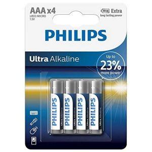 Philips Extrême Life - 4 Piles LR03/AAA