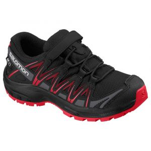 Salomon Chaussures Xa Pro 3d Cswp Junior - Black / Black / High Risk Red - Taille EU 37