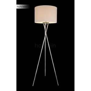 Globo Lighting EEK A++, Lampadaire Gustav - Tissu / Métal - 1 ampoule - Blanc / Nickel