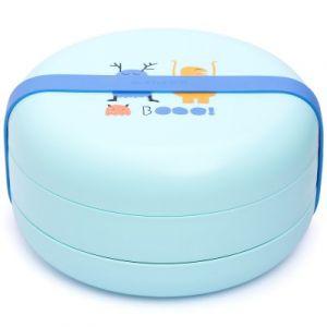 Suavinex Bentoo set d'assiettes combinables Booo bleu