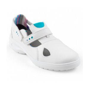 Gaston Mille Sandale de sécurité Femme - MIMOSA BLANC O1 SRC - Blanc / Bleu - 35 - taille: 35 - couleur: Blanc / Bleu
