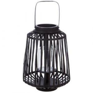 "Lanterne Design ""Rattan"" 35cm Noir Prix"