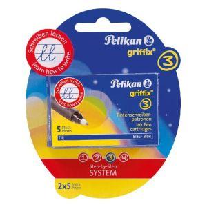 Pelikan 2 boîtes pliantes de 5 recharges pour stylo à encre Griffix T1