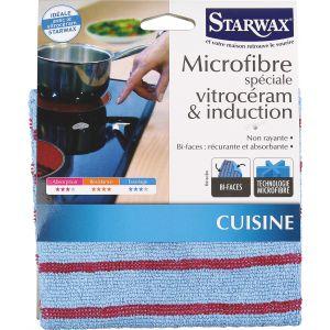 Starwax Microfibre spéciale vitrocéramique et induction 30 x 30