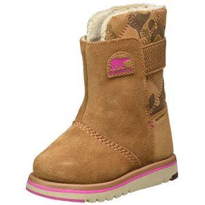 Sorel Children's Rylee Camo, Bottes de Neige Fille, Marron (Elk/Pink Ice), 26 EU