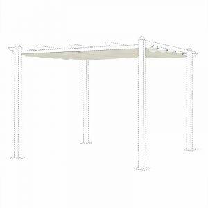 Alice's Garden Toile de Toit écrue pour tonnelle 3x3m Condate - Toile de Rechange pergola, Toile de Remplacement