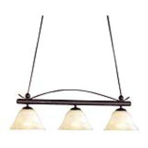 Honsel 4 lampes suspensions en métal et verre 40 W