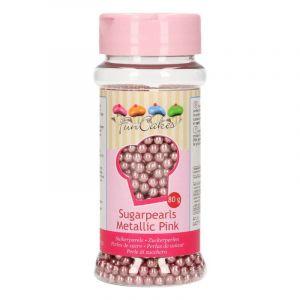 FunCakes Perles de sucre - rose - 80g