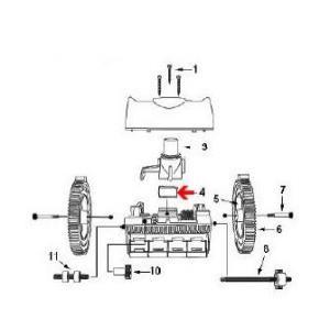 Procopi 1021010 - Ailette de turbine de robot Victor