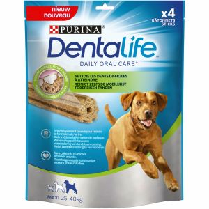 Purina Dentalife Large (Lot de 5) - 4 bâtonnets pour chien adulte de 25 à 40 kg