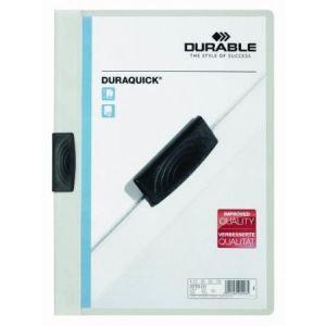 Durable 2270-02 - Chemise à clip DURAQUICK, blanc, A4