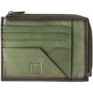 Dudu Pochette Porte-Monnaie, Documents et Cartes de crédit pour Homme en Cuir avec Fermeture éclair Vert