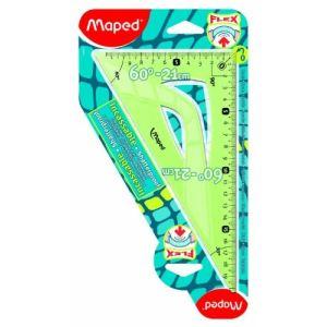 Maped Équerre 60° Incassable Flex en plastique 21 cm