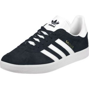 Adidas Gazelle, Baskets Basses Mixte Enfant, Bleu (Collegiate Navy/Footwear White/Footwear White), 37 1/3 EU