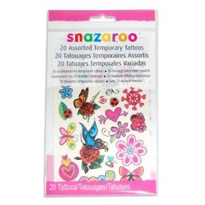 Snazaroo Set de 20 tatouages temporaires (modèle aléatoire)