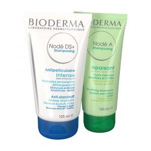 Bioderma Nodé DS+ et Nodé A - Set de shampoing Programme antipelliculaire intensif